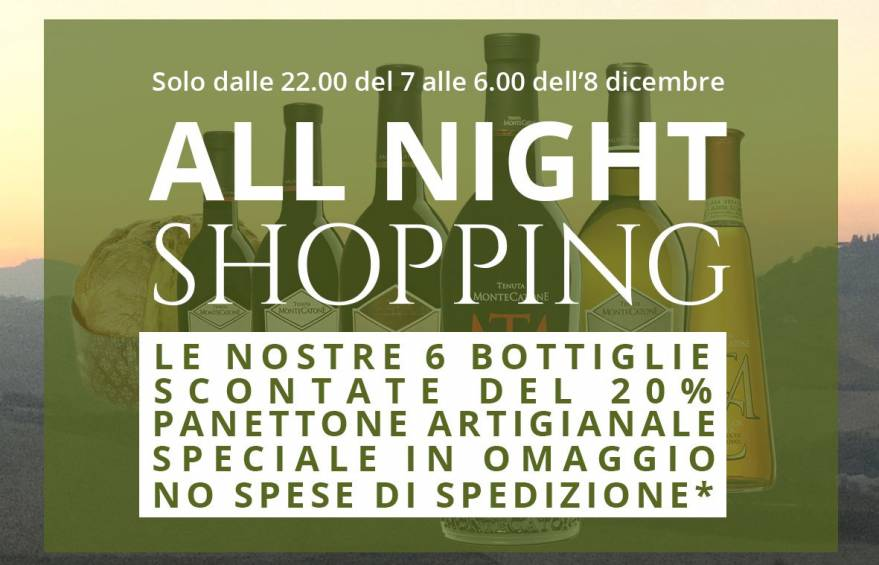all night shopping tenuta montecatone offerta imperdiibile