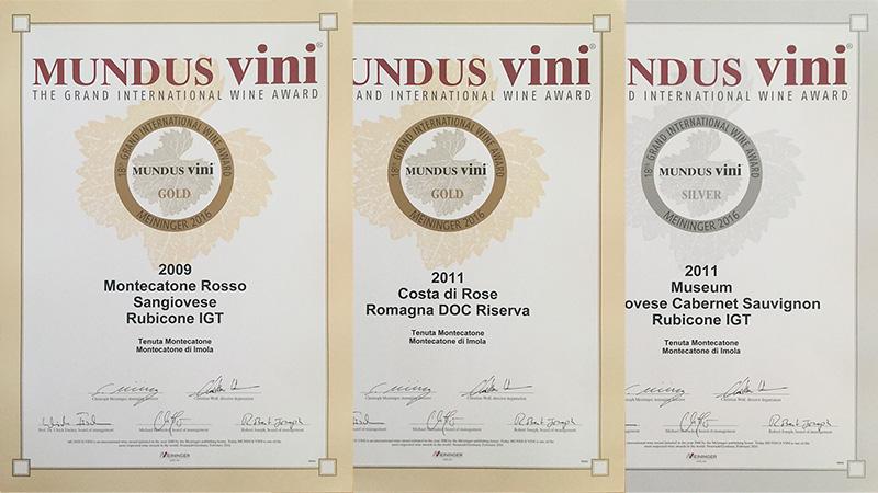 tre nuovi premi per la tenuta Montecatone dal concorso Mundus Vini