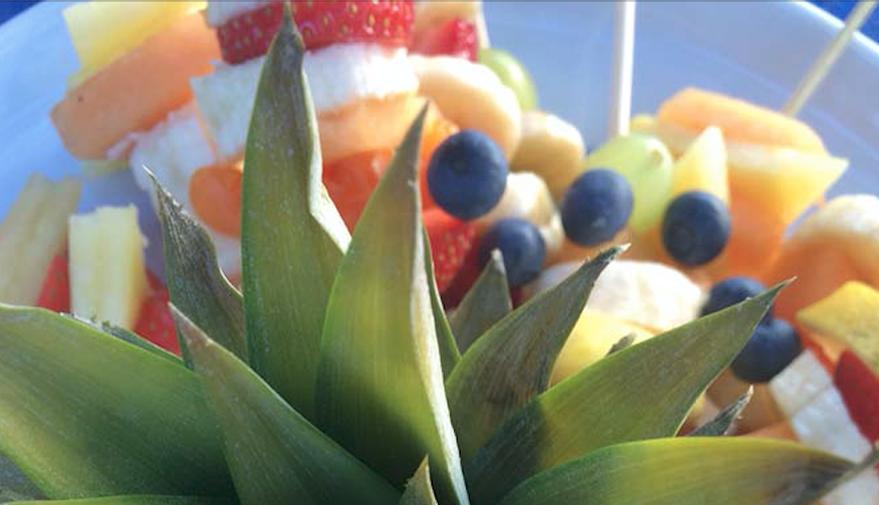 Frutta all'aperitivo della tenuta Montecatone